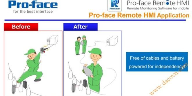 Ứng dụng Điều khiển Từ xa – Màn hình cảm ứng HMI Proface LT4000M
