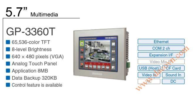 Màn Hình Proface, HMI cảm ứng AGP3360-T1-D24, 5.7 Inch, mầu