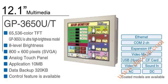 Màn Hình HMI Proface, HMI Proface AGP3650-U1-D24, 12.1 Inch, mầu