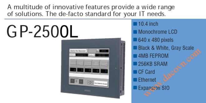 Màn hình cảm ứng HMI Proface GP2500-LG41-24V, 10.4 Inch, đen trắng
