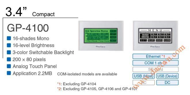 Màn Hình HMI Proface, man hinh Proface GP-4104G, 3.4 Inch, đen trắng
