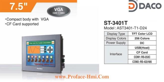 ST3401 Màn hình cảm ứng Proface HMI AST3401, 7.5 Inch, Màu