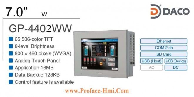 GP4402WW Màn hình Proface HMI GP-4402WW, 7 Inch, Màu