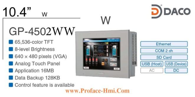 GP4502WW Màn hình Proface HMI GP-4502WW, 10 Inch, Màu