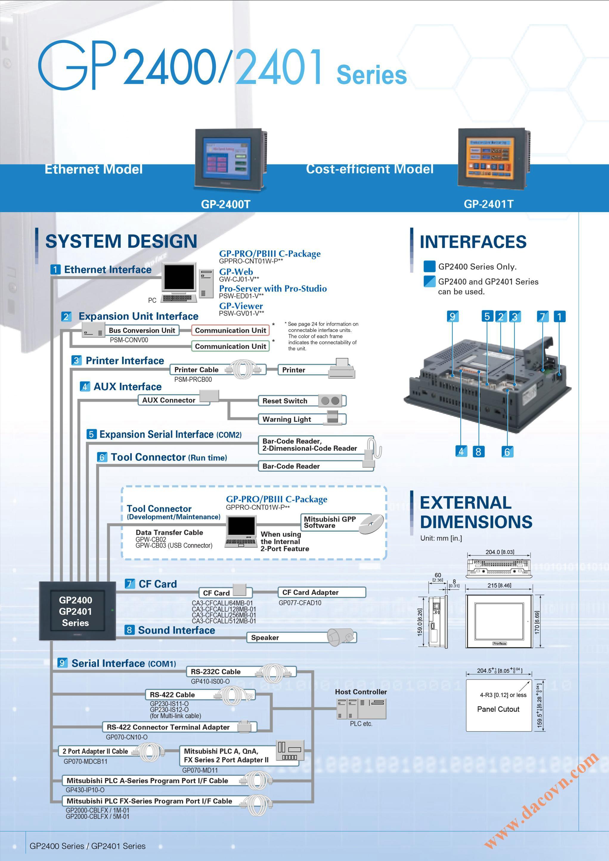Man hinh cam ung HMI Proface-GP2400-2401-www.dacovn.com