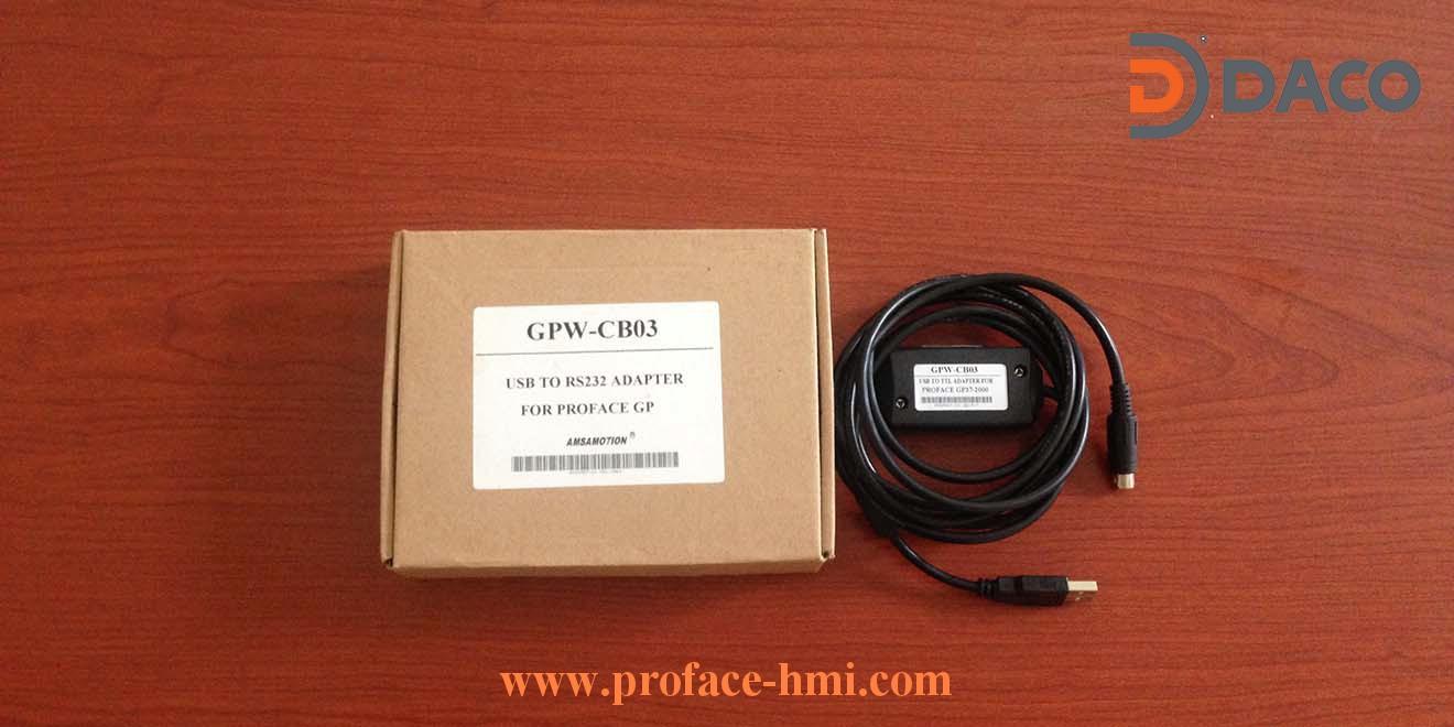 GPW-CB03 Cap lap trinh man hinh proface GP2000